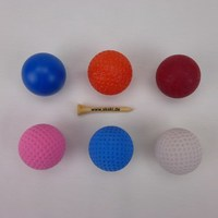 Minigolf balls in a set: perfect for beginners - 6 different minigolf balls at a great price