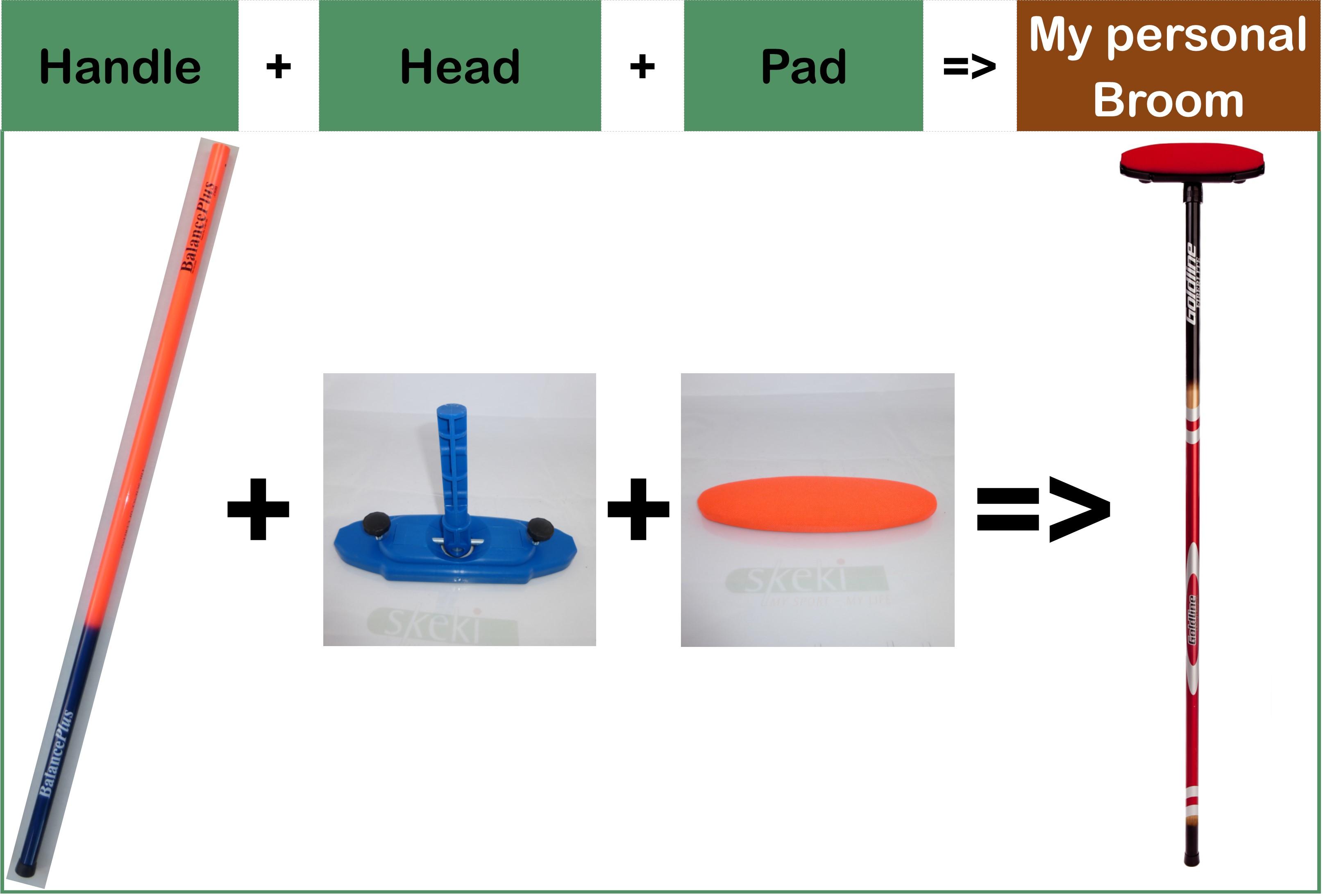 Curling broom head