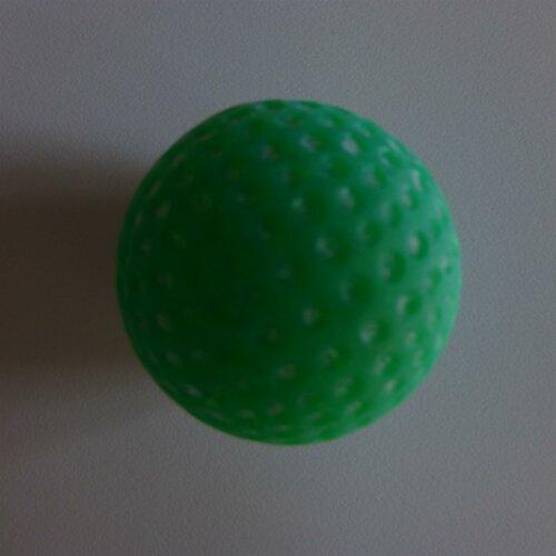 Minigolfball Leuchtball genoppt für Schwarzlicht grün