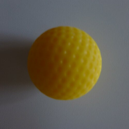 Minigolfball Luminiscent for Black Light yellow