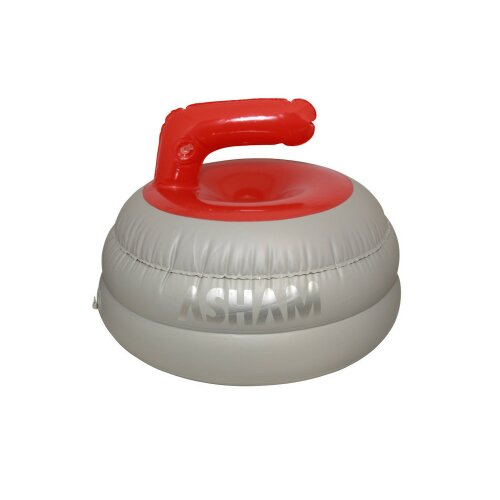 Curling Stone as hat(inflatable) red