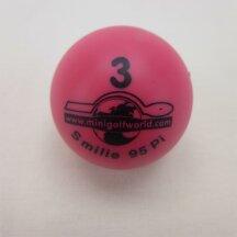 Minigolfball Smilie Tournament quality pink