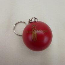Minigolfball Schlüsselanhänger rot