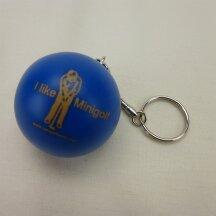 Minigolfball Schlüsselanhänger blau