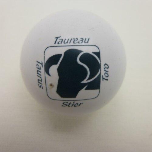 Minigolfball Motif Sign of Zoidiac white Taurus