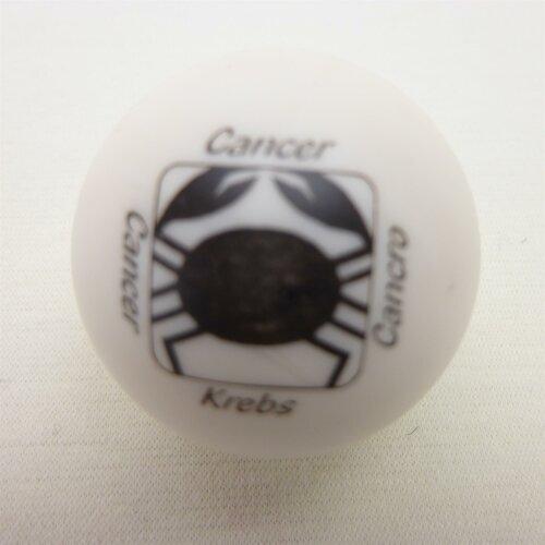 Minigolfball Motiv Tierkreiszeichen weiss Krebs