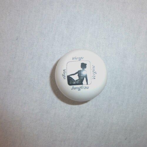 Minigolfball Motiv Tierkreiszeichen weiß Jungfrau