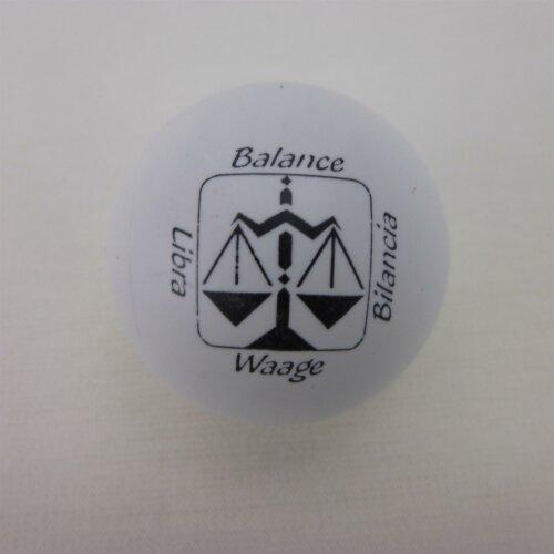 Minigolfball Motif Sign of Zoidiac white Libra