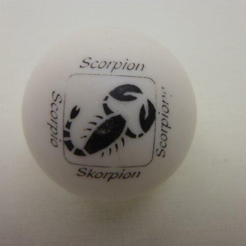 Minigolfball Motiv Tierkreiszeichen weiss Skorpion