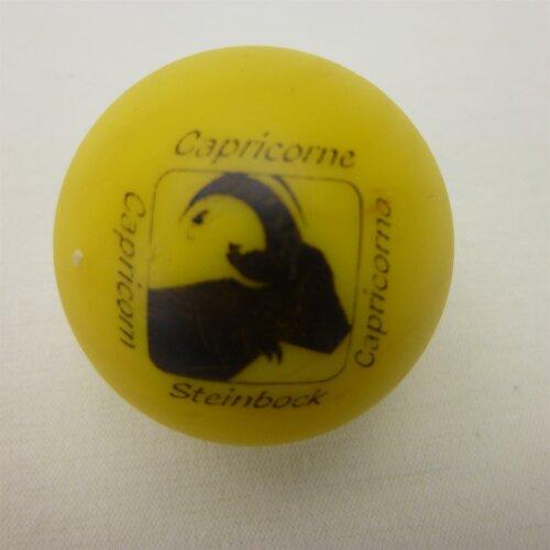 Minigolfball Motiv Tierkreiszeichen gelb Steinbock