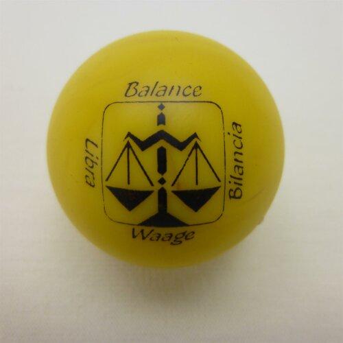 Minigolfball Motif Sign of Zoidiac yellow Libra