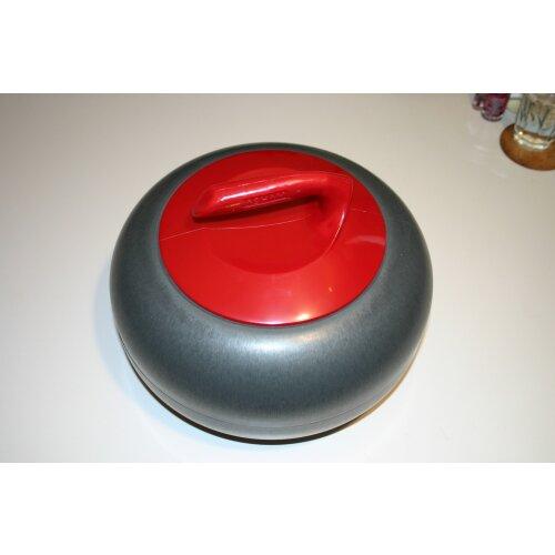 Curling Rock Ice Bucket red