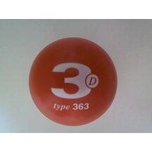 Minigolfball 3D 363M mittel lackiert