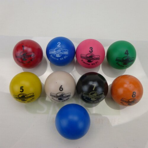 Minigolfball set Smilie Competition Quality 10 pcs.