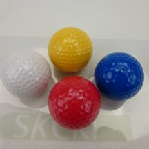 Adventure Golfball in vier Farben gelb
