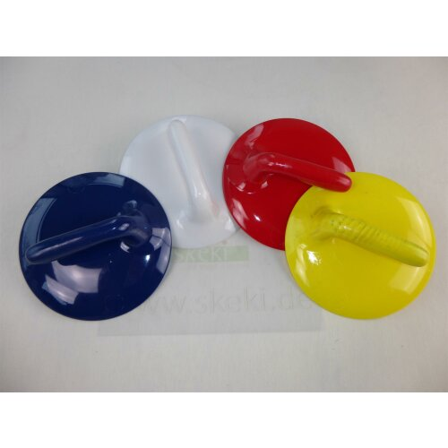 Curling Stone Handle white