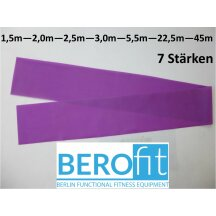 Berofit Fitnessband in 7 resistance levels and many lenghts