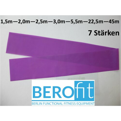 Berofit Fitnessband extra leicht 0,15 mm in 0,1 m Muster