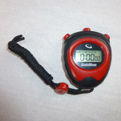 Goldline Curling Stopwatch schwarz/rot